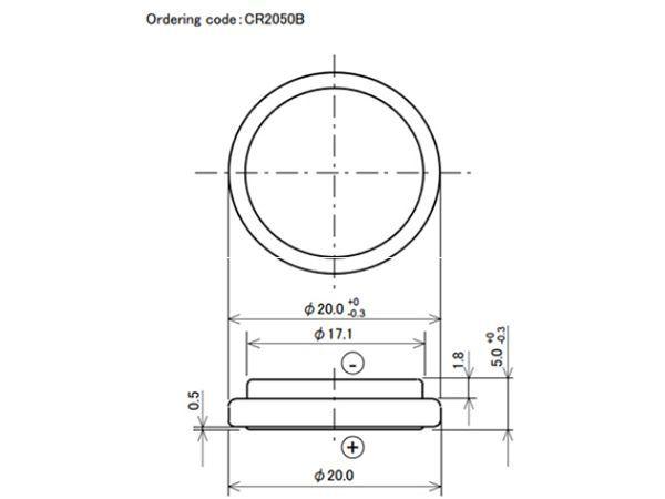パナソニック CR2050B-4pcs