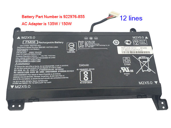 hp FM08 HSTNN-LB8B