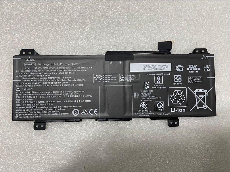 HP GH02XL HSTNN-DB9M L75783-005 L75253-271